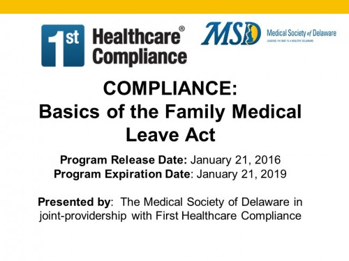 Basic of the Family Medical Leave Act