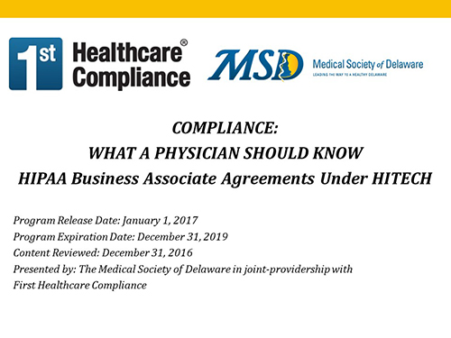 Hipaa Business Associate Agreements Under Hitech  First