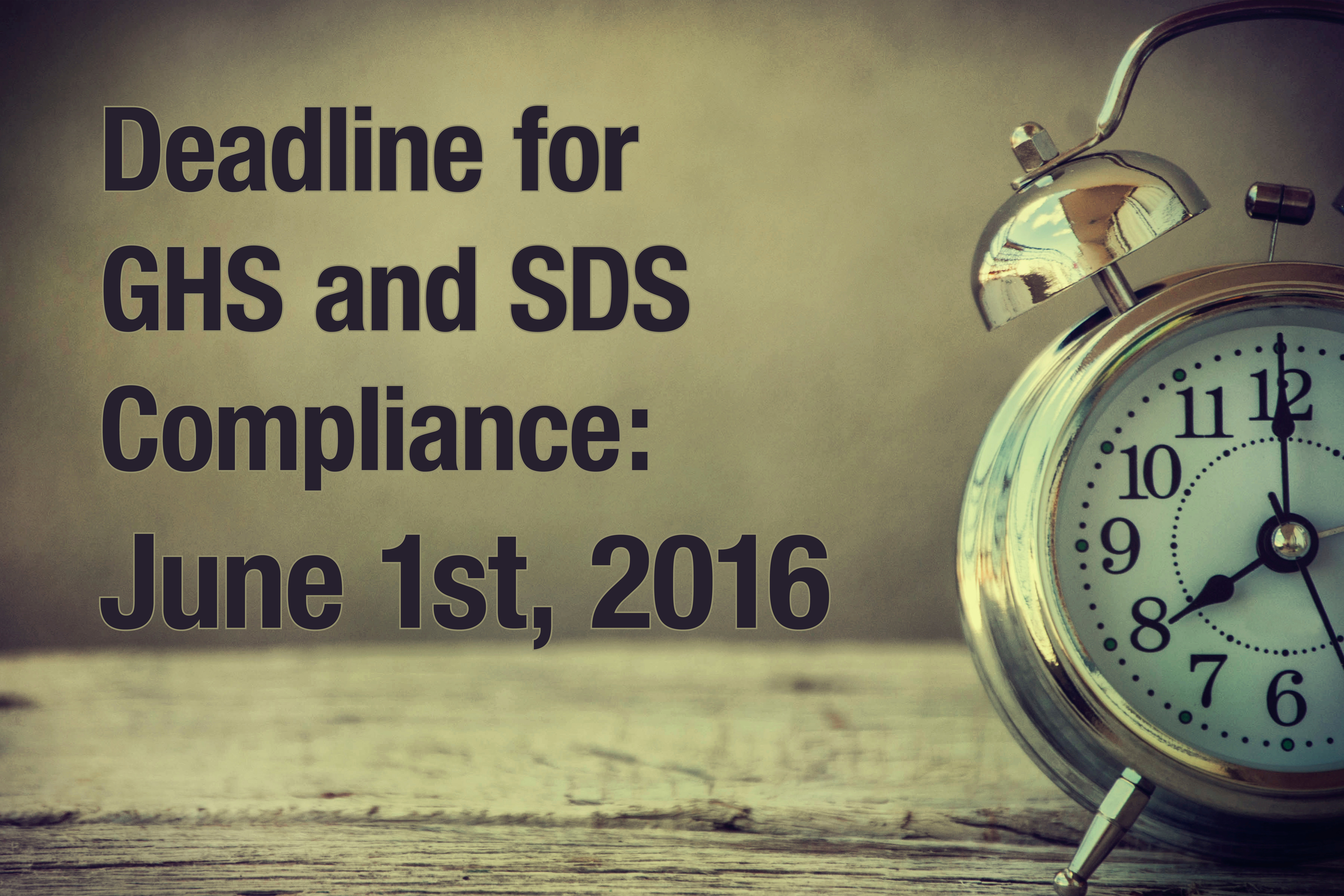 GHS SDS Deadline