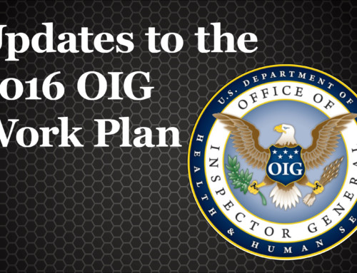 Updates to the 2016 OIG Work Plan