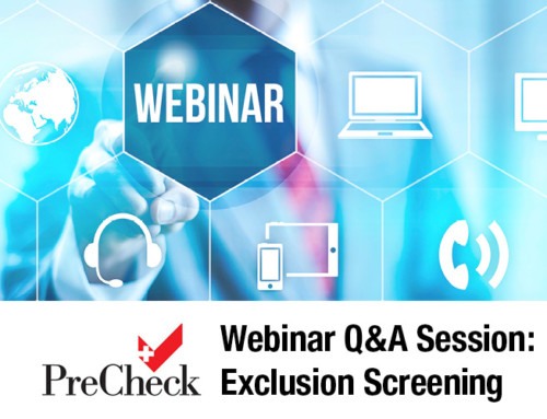 Webinar Q&A Session: Exclusion Screening