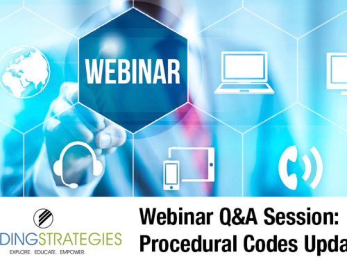 Webinar Q&A: 2017 Procedural Codes Update