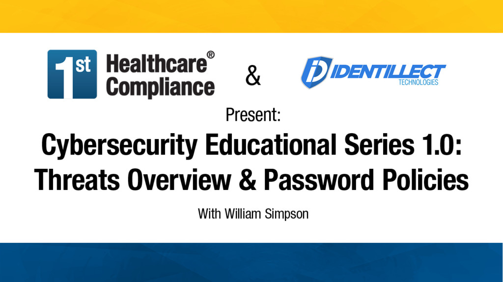 Cybersecurity Educational Series 1 0  Threats Overview