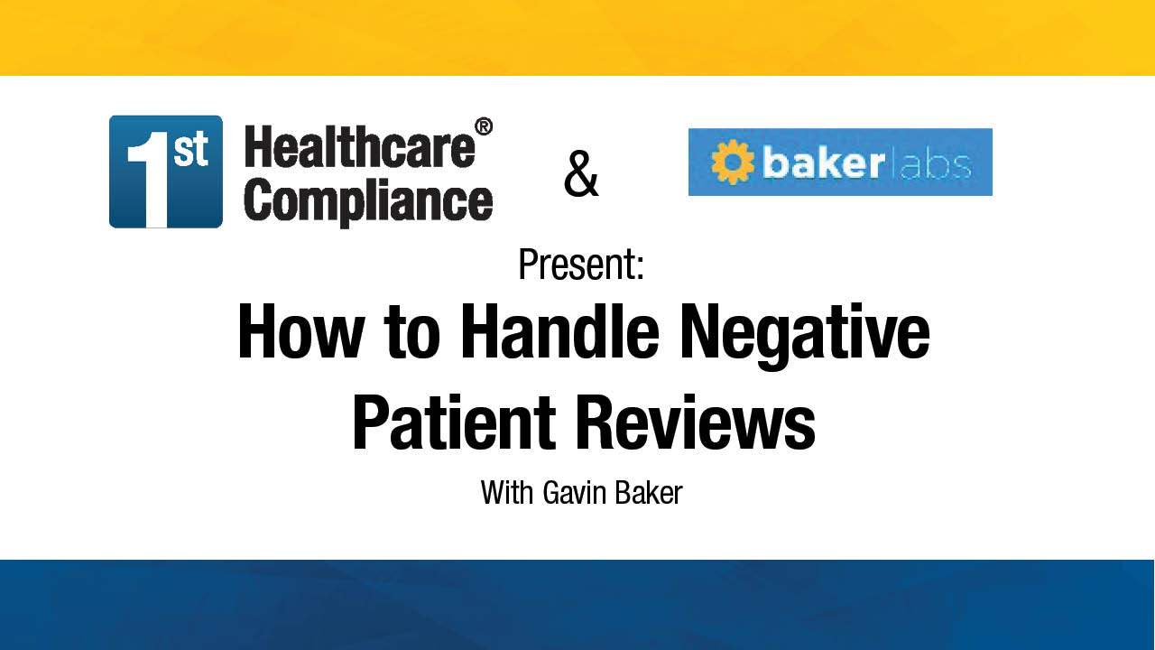 How to Handle Negative Patient Reviews