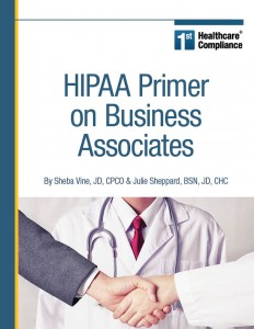 HIPAA Primer on Business Associates