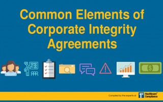 Common Elements of Corporate Integrity Agreements