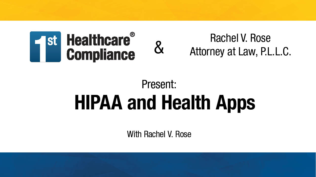 HIPAA and Health Apps