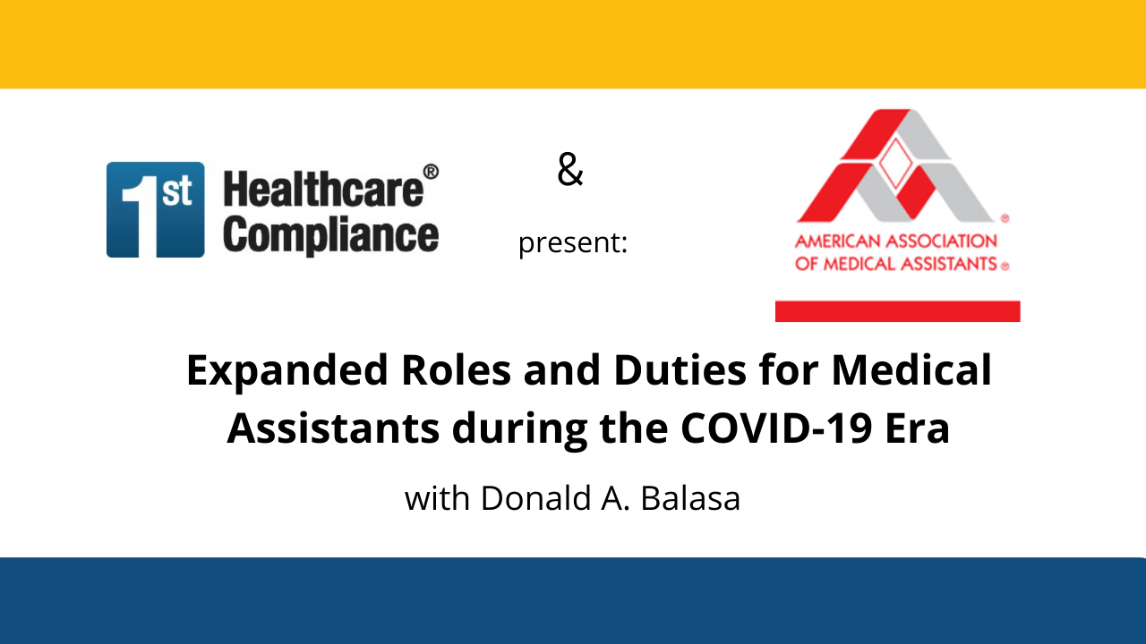 Medical Assistants during Covid Era Webinar