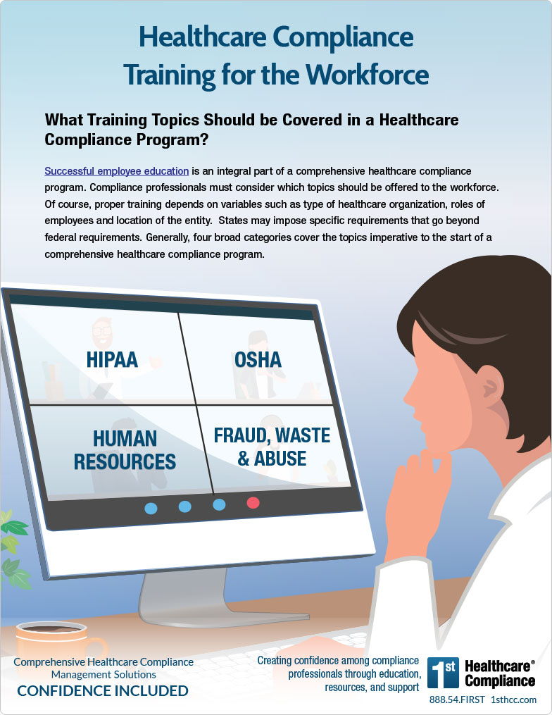 Healthcare Compliance Training Infographic